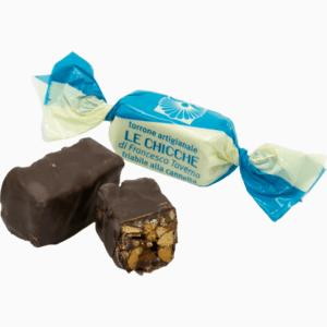 Torroncino friabile cannella ricoperto di cioccolato fondente