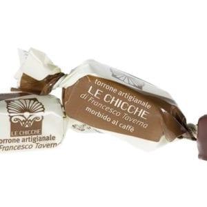 Torroncino morbido caffè ricoperto di cioccolato