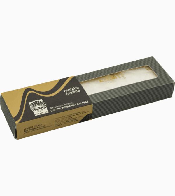 Barra di torrone friabile vaniglia all'ostia